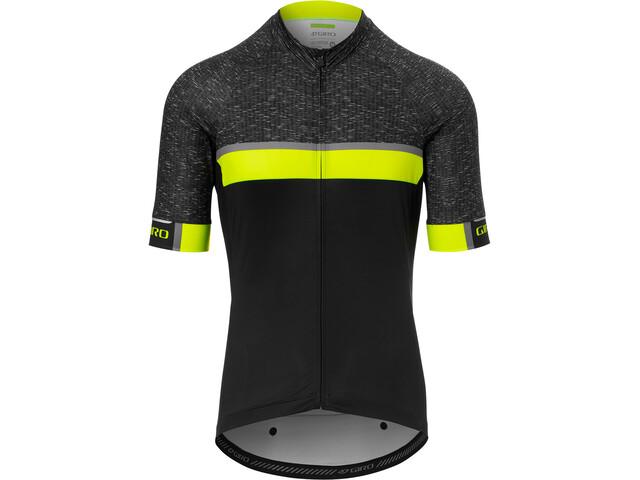 Giro Chrono Expert Koszulka rowerowa z zamkiem błyskawicznym Mężczyźni, czarny/żółty